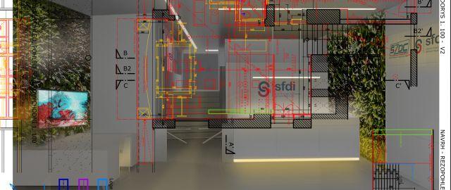 Atelier Vltava odevzdal architektonickou studii na rekonstrukci vstupní části Státního fondu dopravní infrastruktury v Praze, 08/2017, CZ